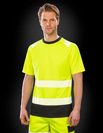T-shirt de segurança de material reciclado