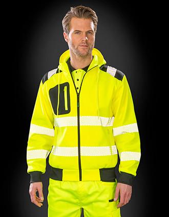Sweatshirt de segurança com capuz de material reciclado