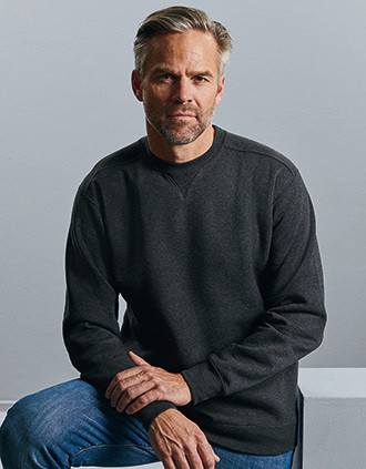 Sweatshirt mesclada com decote redondo Authentic