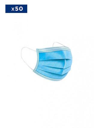 Máscara tipo médico descartável – 3 camadas – Vendidas numa embalagem de 50 ex