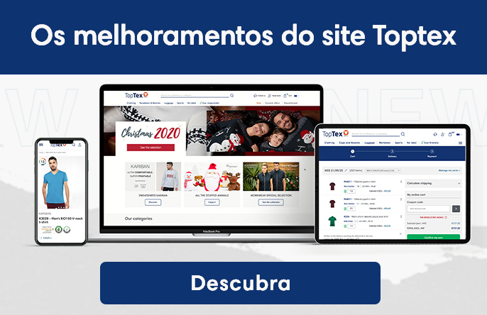 Os melhoramentos do site Toptex